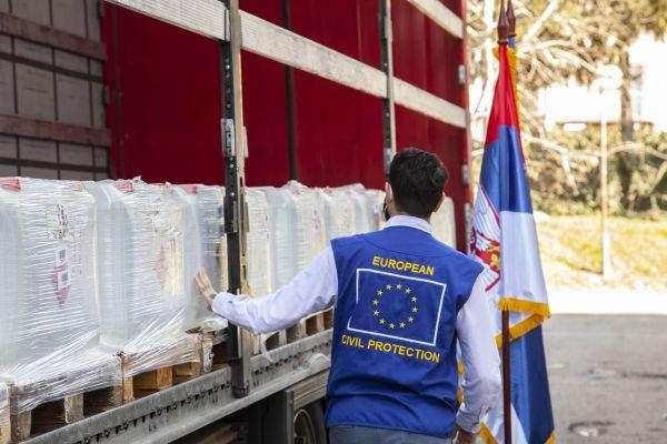 Sredstva za dezinfekciju dopremljena iz Nemačke kao deo podrške EU
